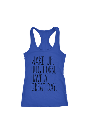 Dark Slate Blue Hug Horse Have A Great Day Horse T-Shirt