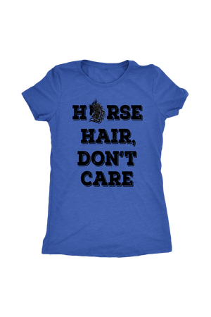 Steel Blue Horse Hair Don't Care T-Shirt