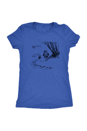 Pooh + Piglet Funny Tops NSFW-T-shirt-teelaunch-Womens Triblend-Vintage Royal-S-Three Wild Horses