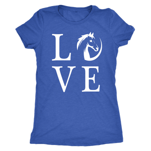 Steel Blue Horse Love T-Shirt