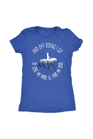 Steel Blue And Off Riding I Go - T-Shirt
