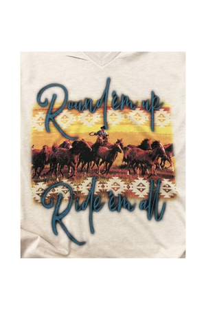 Ride em All Horse Tee Shirt-Madison Private Label-small-Three Wild Horses