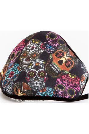 Fashion Face Mask Sugar Skulls-Health & Wellness-Three Wild Horses-Three Wild Horses