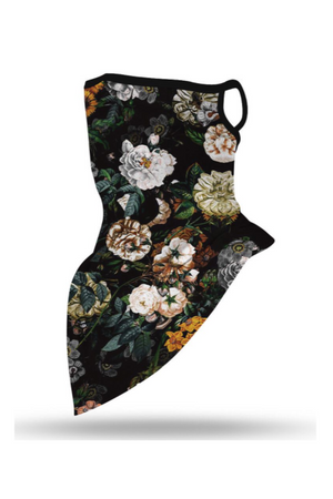 Vintage Floral Face Mask + Gaiter Scarf With Filters (PREORDER)-Health & Wellness-Three Wild Horses-Three Wild Horses