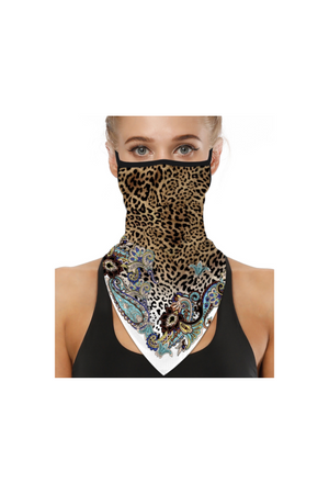 Leopard Chic Face Mask + Gaiter Scarf With Filters (PREORDER)-Health & Wellness-Three Wild Horses-Three Wild Horses