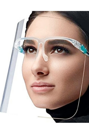 Snow Face Shield Eyeglass Style Clear Face Mask