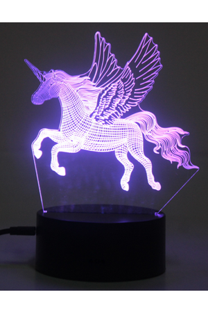 Dark Slate Blue 3D Pegasus Horse Nightlight 7 colors - ON SALE!