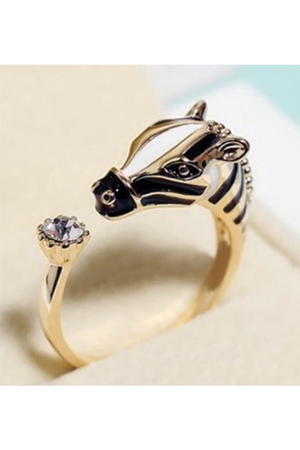 Dim Gray Wild Horse Silver Ring