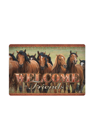 Saddle Brown Horse Doormat Welcome Mat