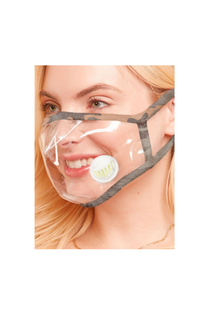 clear face mask camouflage trim