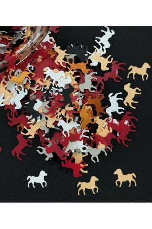 Brown Small Horse Table Confetti