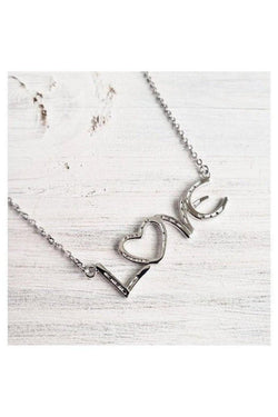 love horseshoe necklace
