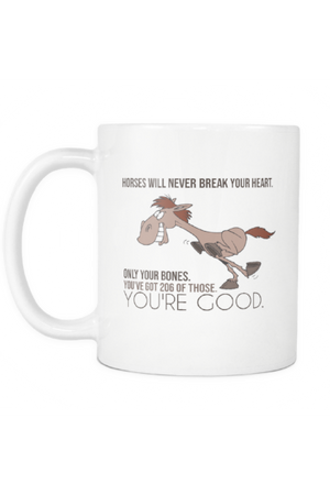Horses Will Never Break Your Heart - Mug-Drinkware-teelaunch-COFFEE MUG 11 OZ-Three Wild Horses