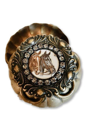 Vintage One-of-a-Kind Horse Trinket Box-Home Decor-Three Wild Horses-Three Wild Horses