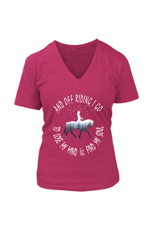 Maroon And Off Riding I Go - T-Shirt
