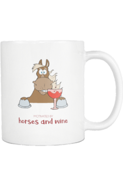 Horses and Wine - Mug-Drinkware-teelaunch-COFFEE MUG 11 OZ-Three Wild Horses