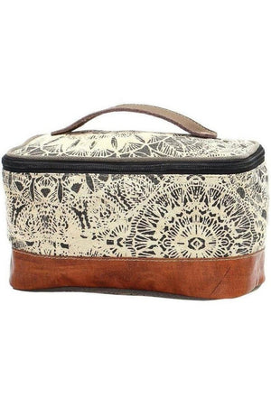 Gray Vintage Style Canvas Shaving Kit Bag