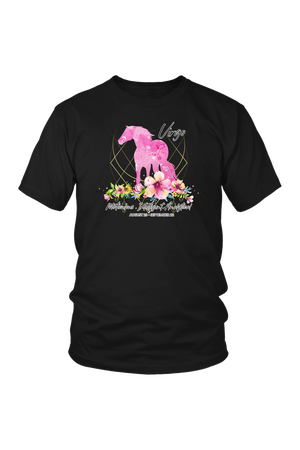 Virgo Horse Unisex Shirt-T-shirt-teelaunch-District Unisex Shirt-Black-S-Three Wild Horses