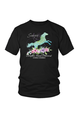 Scorpio Horse Unisex Short-T-shirt-teelaunch-District Unisex Shirt-Black-S-Three Wild Horses