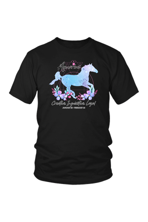 Aquarius Horse Unisex Shirt-T-shirt-teelaunch-District Unisex Shirt-Black-S-Three Wild Horses