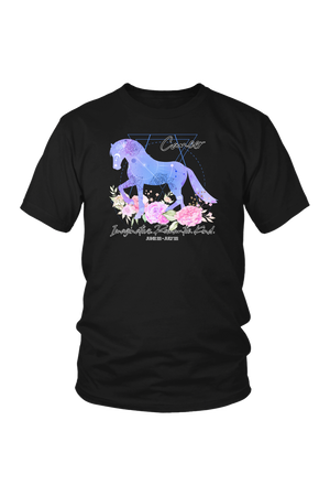Cancer Horse Unisex Shirt-T-shirt-teelaunch-District Unisex Shirt-Black-S-Three Wild Horses