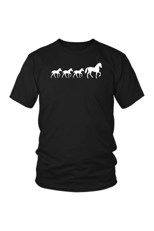 Black Three Foal - T-Shirt in Black