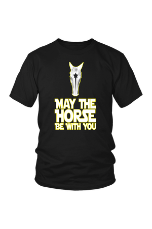 May The Horse Be With You T-Shirt in Black