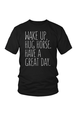 Black Have A Great Day Horse T-Shirt in Black