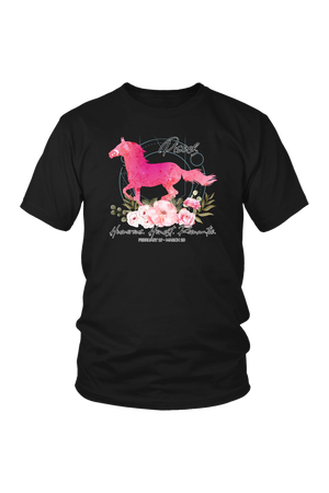 Pisces Horse Unisex Shirt-T-shirt-teelaunch-District Unisex Shirt-Black-S-Three Wild Horses