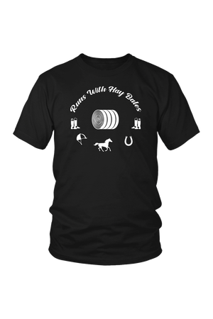 Black Runs With Hay Bales- T-Shirt in Black