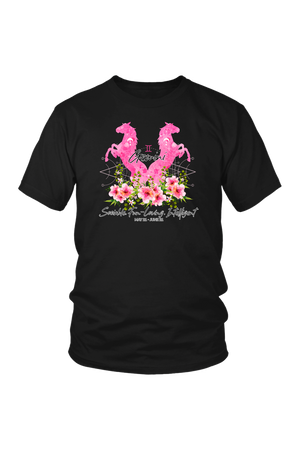 Gemini Horse Unisex Shirt-T-shirt-teelaunch-District Unisex Shirt-Black-S-Three Wild Horses