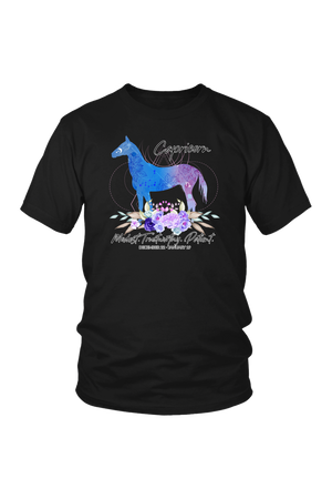 Capricorn Horse Unisex Shirt-T-shirt-teelaunch-District Unisex Shirt-Black-S-Three Wild Horses