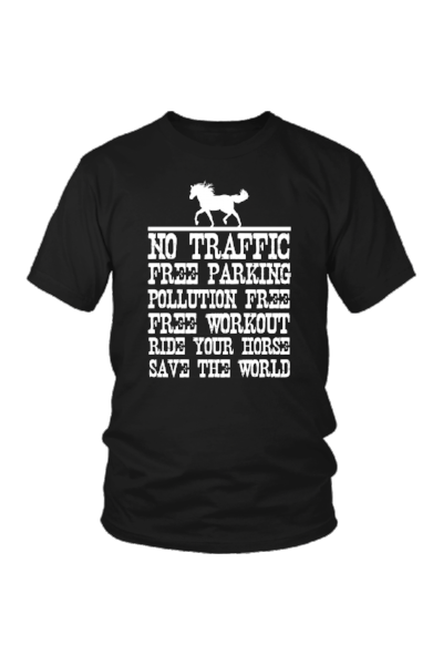 Ride Your Horse, Save the World - Tops-Tops-teelaunch-Unisex Tee-Black-S-Three Wild Horses