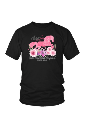Aries Horse Unisex Shirt-T-shirt-teelaunch-District Unisex Shirt-Black-S-Three Wild Horses