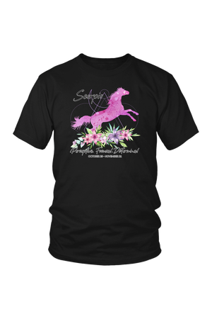 Scorpio Horse Unisex Shirt-T-shirt-teelaunch-District Unisex Shirt-Black-S-Three Wild Horses
