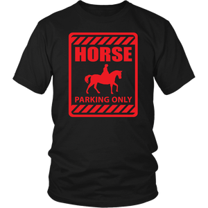 Red Horse Parking Only - T-Shirt