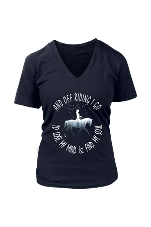 Black And Off Riding I Go - T-Shirt