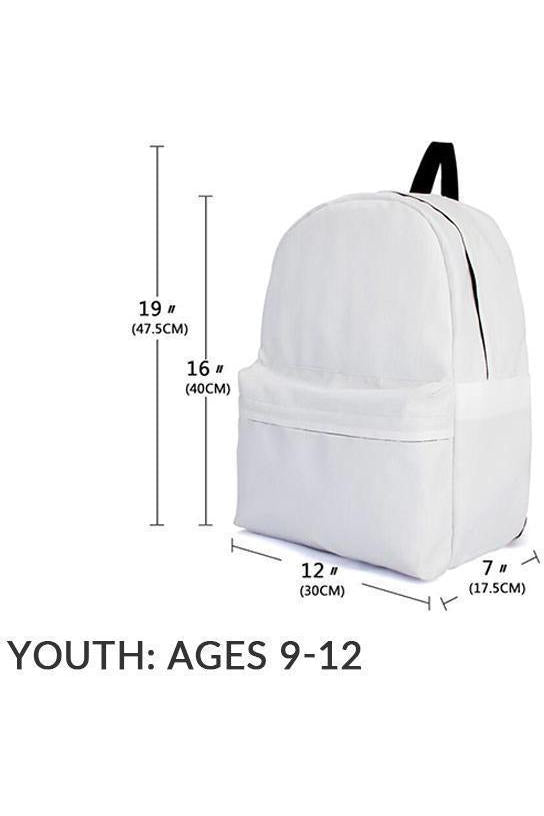 Youth Backpack Sizing Chart