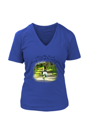 The Trail Always Rise - Tops-T-shirt-teelaunch-Womens V-Neck-Royal Blue-S-Three Wild Horses