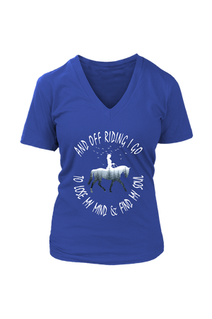 Dark Slate Blue And Off Riding I Go - T-Shirt
