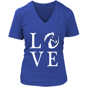 Dark Slate Blue Horse Love T-Shirt