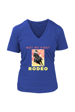 Not My First Rodeo Horse Shirt-T-shirt-teelaunch-Womens V-Neck-Royal Blue-S-Three Wild Horses