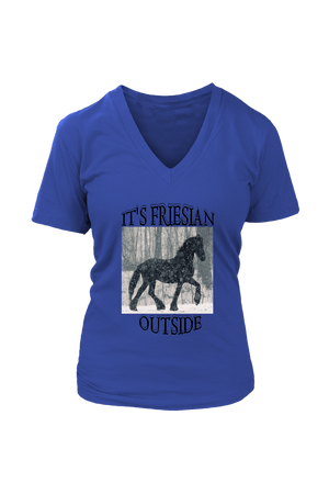 Dark Slate Blue It's Friesian Outside T-Shirt