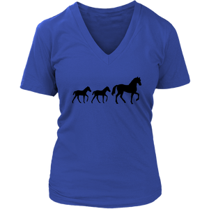 Dark Slate Blue Two Foal - T-Shirt