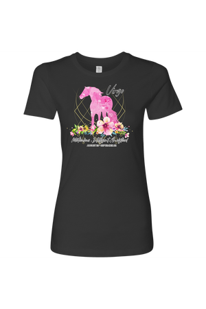 Virgo Horse Shirt for Women-T-shirt-teelaunch-Next Level Womens Shirt-Heavy Metal-S-Three Wild Horses