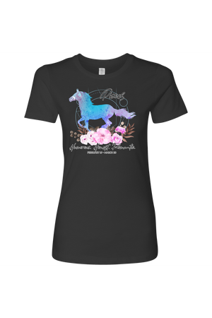 Pisces Horse Shirt for Women-T-shirt-teelaunch-Next Level Womens Shirt-Heavy Metal-S-Three Wild Horses