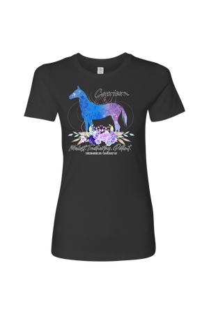 Capricorn Horse Shirt for Women-T-shirt-teelaunch-Next Level Womens Shirt-Heavy Metal-S-Three Wild Horses