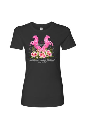 Gemini Horse Shirt for Women-T-shirt-teelaunch-Next Level Womens Shirt-Heavy Metal-S-Three Wild Horses