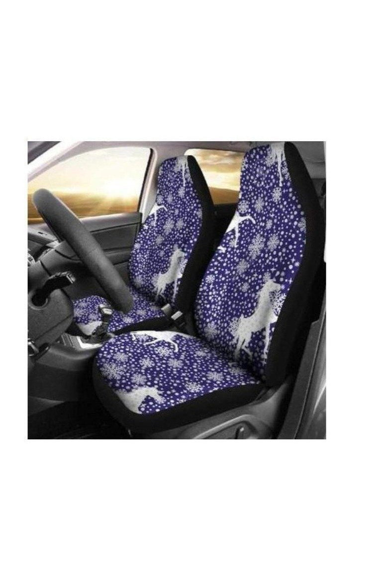 Snowy Horses Car Seat Covers