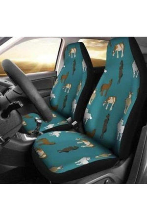 Horsey Car Seat Covers-Car Seats Covers-Pillow Profits-Universal Fit-Three Wild Horses
